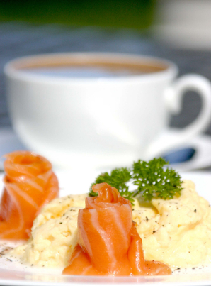 Scrambled Eggs and Salmon