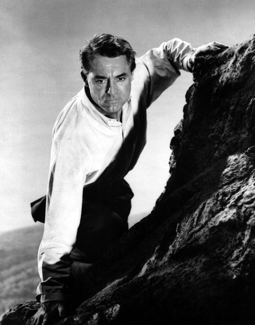 "Cary Grant Scales Rushmore in ""North By Northwest\"""
