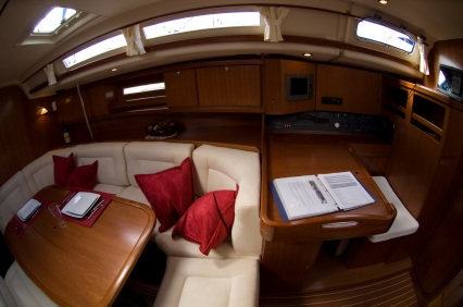 Interior of a Luxury Sailboat
