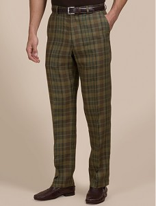 Clark model Linen Madras Pant by BSquared