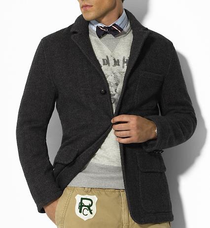 Ralph Lauren\'s Herringbone Knit Sportcoat