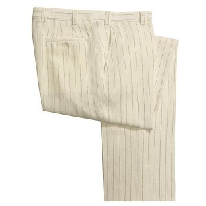 Striped Linen Trousers by Riviera