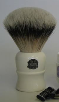 A silvertip badger brush from Vulfix Old Original