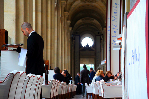Le Café Marly at the Louvre by Beau Wade