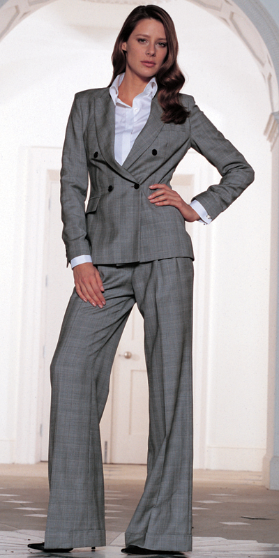 Grey POW Hepburn Model Suit by TM Lewin
