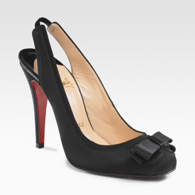 Louboutin\'s Square Toe Slingbacks via Saks