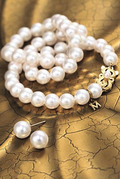 Mikimoto\'s Akoya cultured pearls.