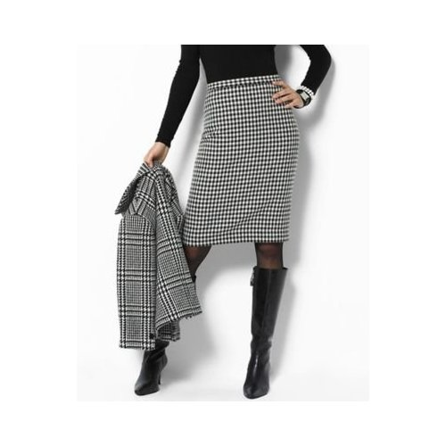 Ralph Lauren\'s Houndstooth Skirt via Amazon