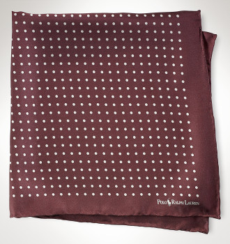 Ralph Lauren\'s St. James Spots Silk Square