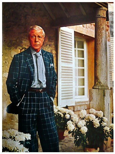 "The Duke of Windsor as pictured in ""Vogue\"" magazine, via \""A Suitable Wardrobe.\"""