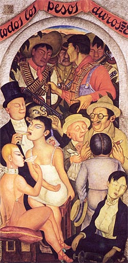 """The Night of the Rich"" by Diego Rivera"