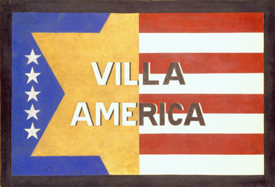 Villa America Sign by Gerald Murphy