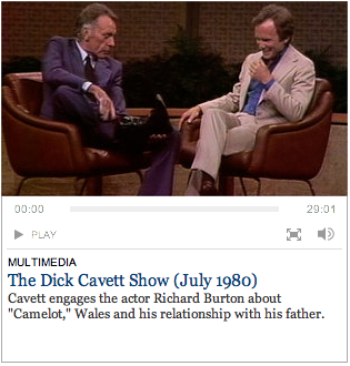 Dick Cavett Interviews Sir Richard Burton