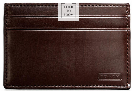 Coach's Slim Card Case in Water Buffalo, USD$58.