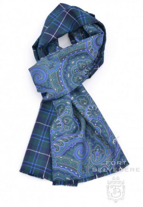 A double-faced paisley/plaid number at The Gentleman's Gazette. USD$195.