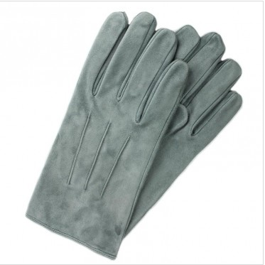 Light Grey Suede Dress Gloves. USD$115 through A Suitable Wardrobe.