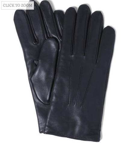 Cashmere-lined, Midnight Blue Leather Gloves by Merola. via:  MrPorter.com. USD$155