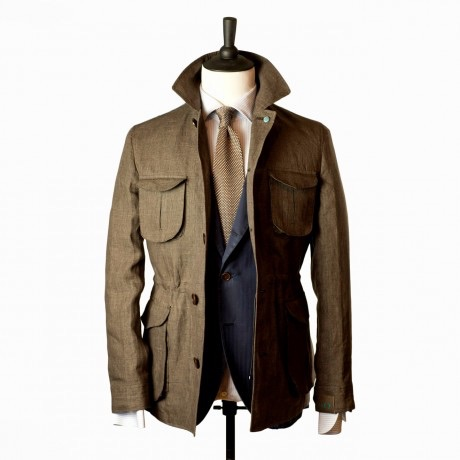 Eidos  Field Jacket in Glenplaid Linen
